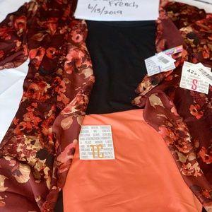 LuLaRoe S Shirley (satiny silk), L Classic T, TC